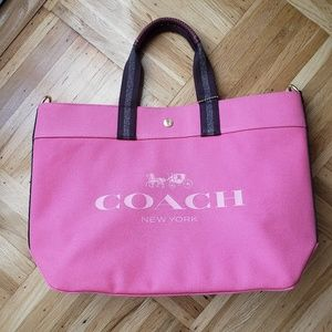 Coach Pink Canvas Tote